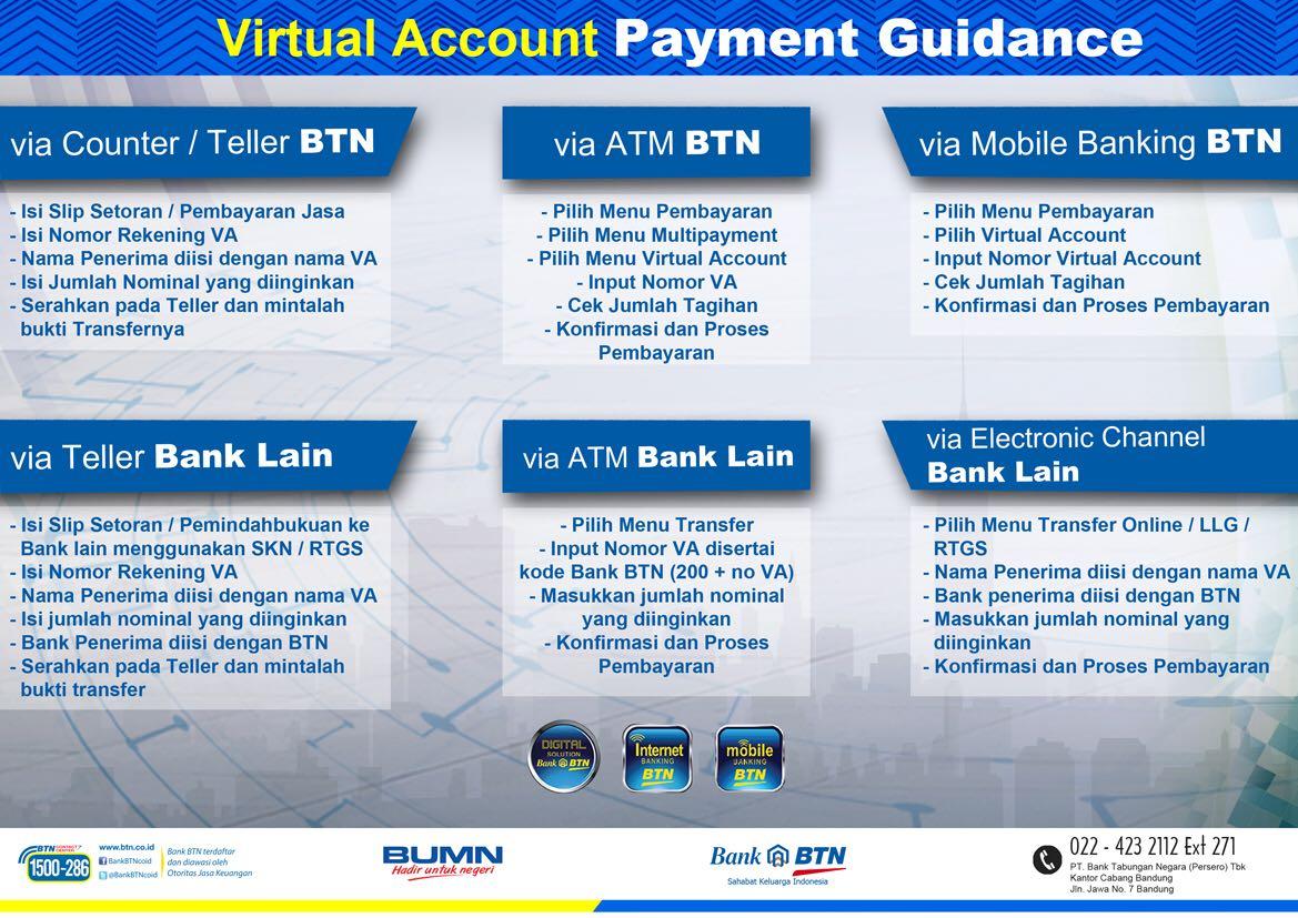Pembayaran Virtual Account Bank Btn Stmik Im Stie Stan Im